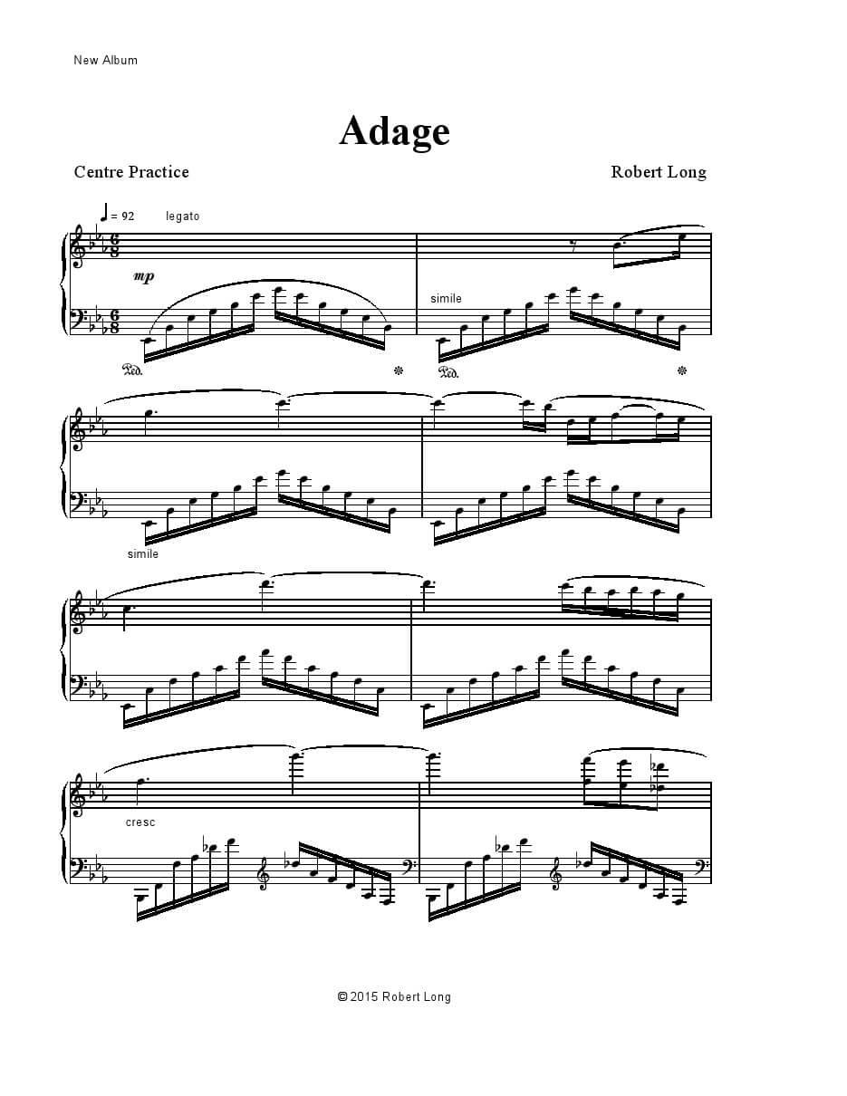 new ballet class sheet music adage
