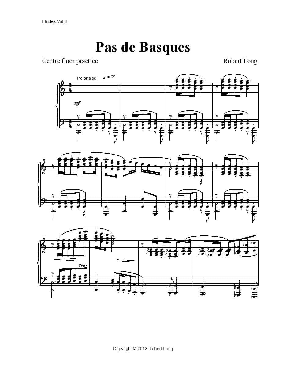 ballet class sheet music